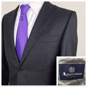 AQUASCUTUM London Gray Sport Coat Blazer Jacket